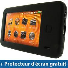 Noir Silicone Etui pour Creative Labs Zen X-Fi 2 - 8/16/32GB Housse Coque Case