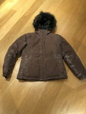 North Face Ladies Goose Down Parka Coat Faded Brown (large) approx size 12-14