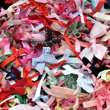 50pcs Assorted Satin Grosgrain Ribbon Flower Bows Handmade Craft Lot Appliques