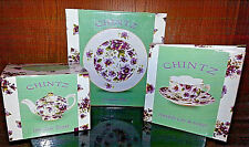 CIB Porcelain Chintz Teapot, Plate, Cup & Saucer New in boxes
