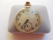 Antique 1917 Open Face Illinois Pocket Watch~1000 Made~Size 12~14K G.F~Works