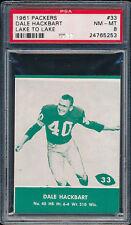 1961 Lake to Lake Packers #33 Dale Hackbart PSA 8 (FB01)