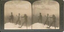 Stéréo USA c. 1900 - Hommes Longue-Vue Lunette Sommet du Mont Hood Oregon - 39