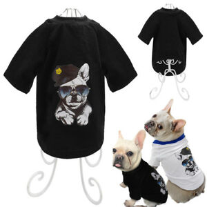 French Bulldog Shirt Soft Cotton Dog Clothes Vest T-shirt for Small Pets Puppy