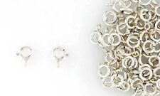 Sterling Silver Spring Ring Clasps 8mm Closed Loop Jewelry Supplies
