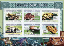 Guinea Frogs Stamps 2009 MNH Reptiles & Amphibians Fauna 6v M/S