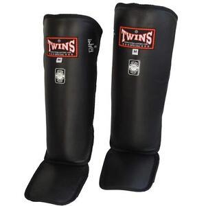 Twins Schienbeinschutz Deluxe SG-3 aus Leder, Kickboxen, Muay Thai, MMA, K1