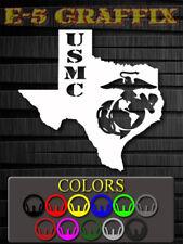 Texas Marine USMC vinyl decal.