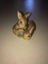 Vintage Home Interior Homco #1455 Bunny Rabbits Bunnies Figurine