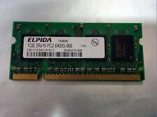 Elpida 1GB DDR2 2Rx16 PC2 6400S-666 Laptop Memory EBE11UE6ACUA-8G-E  446495-001