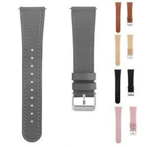 Replacement Genuine Leather Wristband Strap Bracelet For Fitbit Versa 1/2/Lite