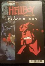"HELLBOY ANIMATED: Blockbuster Movie Backer Mini Poster 8""x5.5"" not movie or dvd"