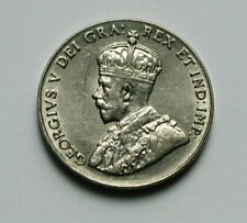 1928 CANADA George V Nickel Coin - 5 Cents - toned-lustre