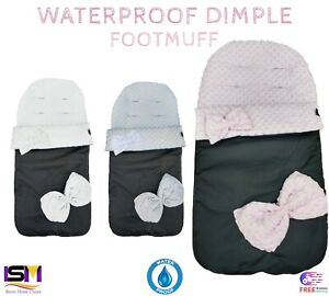 Baby Footmuff Dimple Cosy Toes Universal Stroller Buggy Pram Apron Baby Toddler