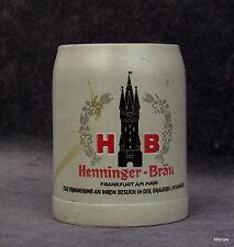 alte Bierkrug Krug Henninger Bräu Frankfurt am Main  0,3  Liter