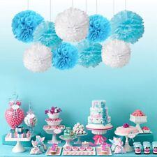 9Pcs 8'' 10'' Tissue Paper Pom Poms Ball Wedding Birthday Party Baby Room Decor