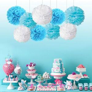 10Pcs 8''10'' Tissue Paper Pom Poms Ball Wedding Birthday Party Baby Room Decor