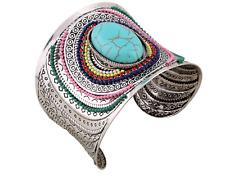 Wide Cuff Women Boho Turquoise Bracelet