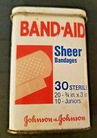 1983 Johnson & Johnson Band-Aid Sheer Bandages (Code 4614) Metal Tin w/ Bandages