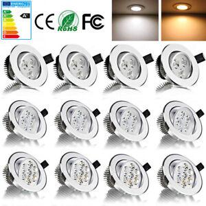 LED Einbaustrahler 3W 5W 7W Einbauleuchte Feuchtraum Deckenlampen Kronleuchter