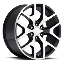 "4) 24"" GMC 1500 Sierra Black Machined Denali Tahoe Chevy Silverado Wheels Rims"