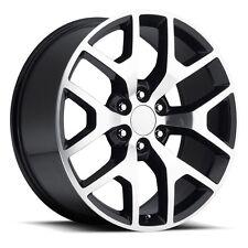 "4) 24"" GMC 1500 Sierra Black Machined Denali Tahoe Chevy Silverado Wheels Rims"