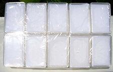 Edelsteindosen, weiss, rechteckig, 20 Stück