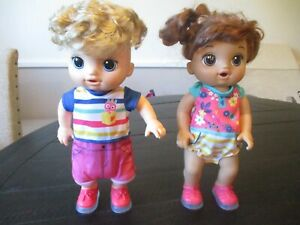 Baby Alive Step 'N Giggle Baby Boy & Girl Talking Dolls with Light-Up Shoes