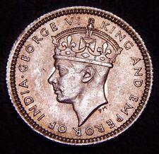 Malaya 5 Cents 1943 BU UNC, Nice WWII Era Silver Coin!