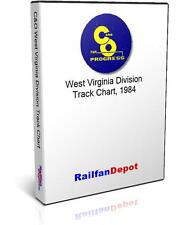 C&O West Virginia Division Track Chart 1984 - PDF on CD - RailfanDepot