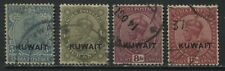 Kuwait KGV 1929-34 overprinted various values to 12 annas used