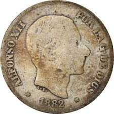 [#822538] Coin, Philippines, 10 Centimos, 1882, VF(20-25), Silver, KM:148