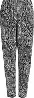 BNWT Ladies Trousers Stretch Fit Print Pattern Sizes 8-18 Elasticated Waist