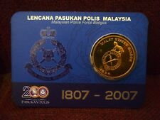 Malaysia 2007 MALAY STATES GUIDES Police Force Badges/Medallion Nordic Gold.