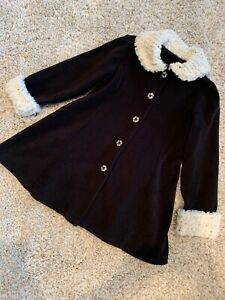 Girls Size 8 Mack & Co Black Fleece Fall  Jacket /coat