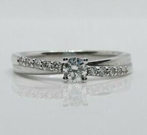 0.34ct Diamond  Engagement/ diamond shoulders/White gold