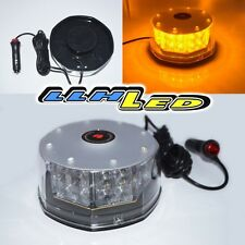 ROOF TOP EMERGENCY HAZARD WARNING YELLOW STROBE LIGHT 32 LED 9 FLASHING PATTERN