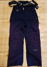 Vtg Mens Spyder Dermizax navy blue bibs ski snowboard pants bibs Medium x 31