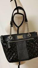 Nine West Black Chain Strap vegan Leather & Quilted Shoulder Bag Handbag Purse