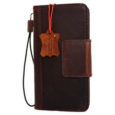 Genuine Vintage Leather case for LG V20 Book Wallet Magnet Cover Slim Dark Brown