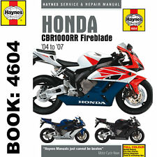 Honda CBR1000RR Fireblade 2004-2007 Haynes Workshop Manual