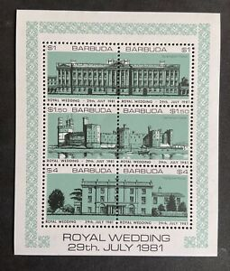BARBUDA Royal Wedding Of Prince Charles & Lady Diana 1981. Mini Sheet MNH