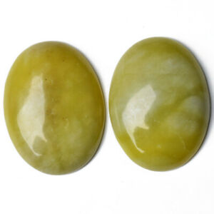 Serpentine Cabochon Yellow Oval Calibrated 18 x 25mm Pack Of 1