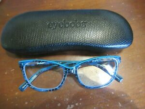 NEW Eyebobs VERNA Readers Cheaters 2.5 Eyeglasses Case  BLUE MARBLE