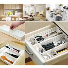 US Adjustable Drawer Organizer Home Kitchen Cupboard Board Divider Storage