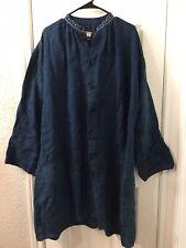Dosa Linen Oversized Long Blouse Dress Shirt Sz 2
