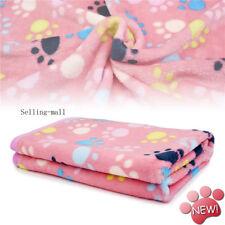 New listing Dog Blanket Pet Cat Animal Fleece Soft Warm Paw Print Blankets Beds Mats Small