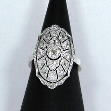 ungewöhnlicher Art Deco anello donna (PLATINO / 585er ORO) CON BRILLANTI
