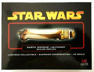 Star Wars Darth Sidious Sabre Echelle 0:45 Master Replicas