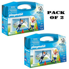Pack of (2) New! PLAYMOBIL 5654 Soccer Shootout Carry Case Playset Ages 4-10